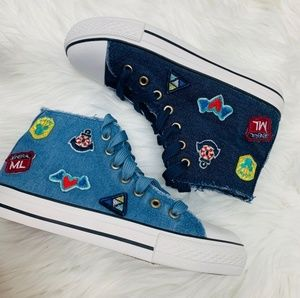 Shoes - High blue denim sneakers
